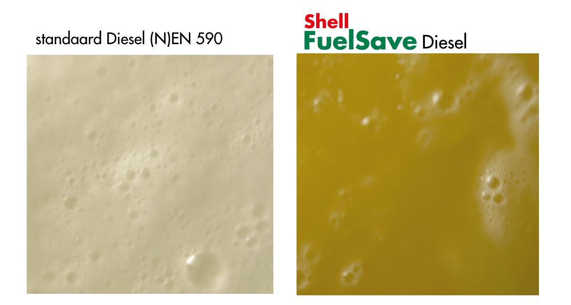 Shell FuelSave Diesel voorkomt schuimen, hierdoor tank je meer en is er minder kans op condensvorming in de tank